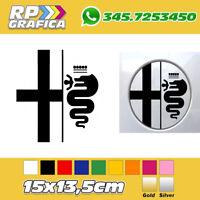 ADESIVO ALFA ROMEO sticker SERBATOIO LOGO AUTO 156 147 159 MITO