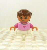 Lego Duplo Lady Woman Mother White hair Orange Shirt Blue Trousers// Legs Figure