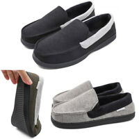 Men's Memory Foam Moccasin Slippers Loafers Comfort Flats Non Slip Driving Shoes