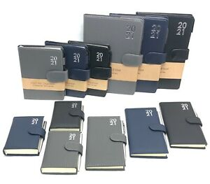 2021 Diary A5 A6 Slim Pocket Premium Padded Organiser Week To View DAP With Pen
