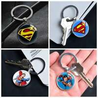 Comic Superhero Superman Logo Keychain Keyring Pendants Keychains Gift