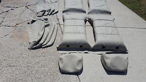 BMW 635CSI E24 SPORT SEAT KIT LOTUS WHITE 100% LEATHER UPHOLSTERY KITS 87-89 NEW