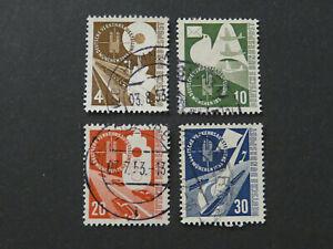 BRD,Deutschland, Mi.-Nr.: 167-170, gestempelt, KW: 45,00