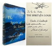 SIGNED & INSCRIBED – The Spirit of St. Louis – FIRST EDITION – Lindbergh 1953