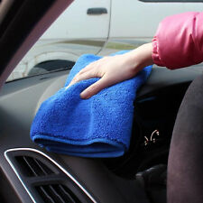 BLUE Microfiber Towel NEW Car Wipe Cleaning Clothes Wash Cleaner 70*30cm NoX4J8