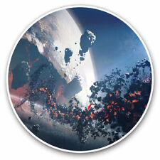 2 x Vinyl Stickers 10cm - Alien Sci-Fi Planet Space Gamer Cool Gift #14034