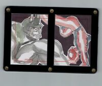 Spider-Man and Rhino Original Art Sketch Cards!! Marvel 75th Anniversary!