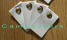 White Heavy Duty Adhesive Grommet Tabs ~4 pack~ JUST PEEL & STICK! DONE!!