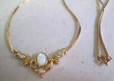 "VINTAGE AVON* MOTHER OF PEARL NECKLACE* LARGE 18""LONG *NIB* 1992* OLD STOCK"