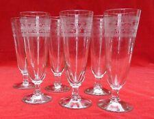 6 anciens verres à absinthe en verre gravé  belle qualité  ht 19,9 cm