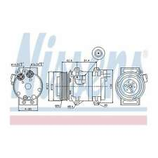 Fits Volvo XC70 Cross Country 2.4 D5 AWD Genuine Nissens A/C Air Con Compressor