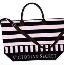 Victoria's Secret Expandable Striped Duffle Travel Bag NEW
