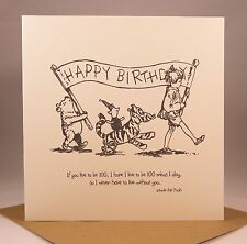 WINNIE THE POOH Birthday Card - Husband Boyfriend Wife Girlfriend, Best Friend