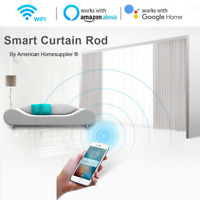 Smart Curtain Rod work with Alexa Google Home Phone App, Varied Length, Free P&P