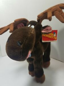 VTG Dakin Stewart Moskowitz Chewie Newgetts Chocolate Moose Plush 1984 W/ Tags