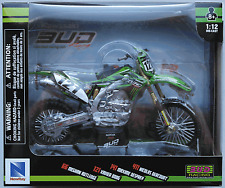 Newray-kawasaki kx450f 2015 Bud racing/Xavier Boog 1:12 nuevo/en el embalaje original moto cross