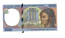 CENTRAL AFRICAN STATES GABON BANKNOTE 10000 FRANCS UNC CURRENCY