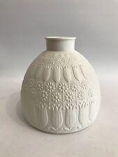 OP Art Design Vase H&G Heinrich Mattes Relief Dekor Space Age 70s 70er Jahre