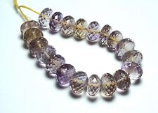 20 pcs AMETRINE 10mm Faceted Rondelle Beads AAA NATURAL /R10