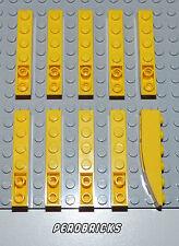 Lego Basic 10 Bogensteine Dachsteine Schrägstein negativ gebogen 6x1 gelb #42023