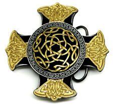 Celtic Knot Belt Buckle 24ct Gold 3D Convex Design Authentic Dragon Designs