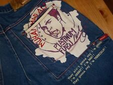FUBU PLATINUM MUHAMMAD ALI Jeans 36x34 Hip Hop Bounce Heavy Denim