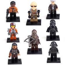 Star Wars Force Awakens Rey Finn Han Solo Crew 8 Minifigures building toys Lego