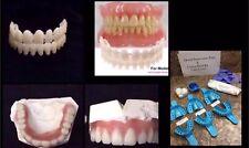 Denture Teeth DIY Denture Kit A1 Shade Dental Impression Putty Mold Upper/Lower