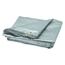 3m x 5m Tough Thick and Strong SILVER Tarpaulin Tarp Groundsheet Cover 150GSM