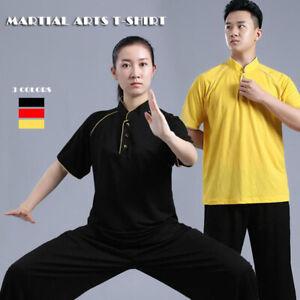 Bruce Lee Kung Fu Wingchun T-shirt Tee Martial Arts Tai Chi Shirt Tops Buttons