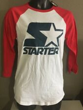 STARTER Mens Baseball Style T Shirt Red/white/blue Size Small
