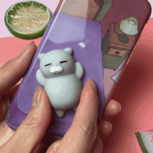 Mini Squishy Cat Seal Rabbit Cute Phone Straps Slow Rising Soft Press Squeeze