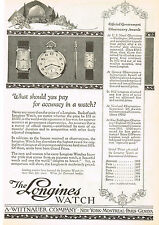1920s Original Vintage 1924 Longines Wittnauer Art Deco Swiss Watch Print Ad
