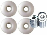 Blank Skateboard Wheels With ABEC 9 Bearings 52mm Wht
