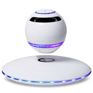 Colorful LED lamp Magnetic Levitation 3D Floating Wireless Bluetooth Speaker