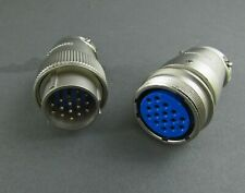JC1A25-16S Cannon Connector Mated To JC6A25-16P Plug 16 Solder Cup Contacts