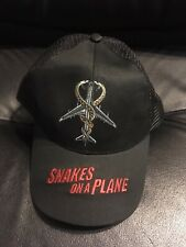 Snakes On A Plane Hat Black Mesh Back Samuel l. Jackson One Size Fits All