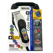 Wahl Color Pro PLUS Hair Cutting Clippers 22 Piece Kit Corded Home DIY Haircut