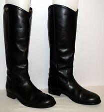 Frye Melissa Button 2 Black Tall Leather Boots Women's Size 7 M EUC