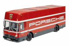 Mercedes Benz O317 Renntransporter 1965 Porsche Motorsport rojo 1:18 SCHUCO NEW
