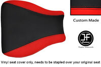 RED AND BLACK VINYL CUSTOM FOR SUZUKI HAYABUSA GSX 1300 99-07 FRONT SEAT COVER