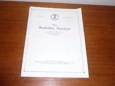 THE AUSTRALIAN SURVEYOR VOL 1 No 7 OCT 1929 A QUARTERLY PUBLICATION
