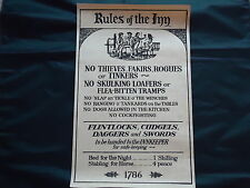 Rules Of The Inn Poster Large Pub Sign Picture - Looks Good Framed / Bar Pub Gin