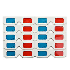 10pcs Universal Anaglyph Cardboard Paper Red Blue Cyan 3D Glasses For Movie