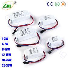 LED Driver 1-3W 4-7W 8-12W 12-18W 36W AC-DC 300mA Netzteil Trafo Transformator