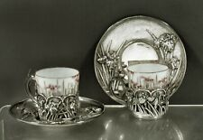 Japanese Sterling Tea Set                  c1895 Samurai Shokai