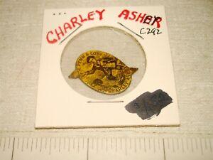 CHARLEY ASHBY F R Penn Co - C292 - Plug Chewing Tobacco Tin Tag