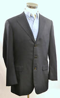 BELVEST Navy Striped Super 130's 3 Button Wool Jacket Blazer - EU 44 / US 34 L