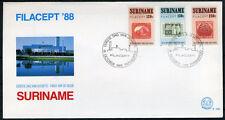 SURINAME E126 FDC 1988 - Postzegeltentoonstelling Filacept