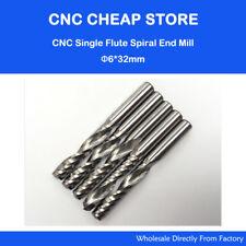 5 pcs Carbide endmill milling tool single flute spiral CNC router bits 6mm 32mm